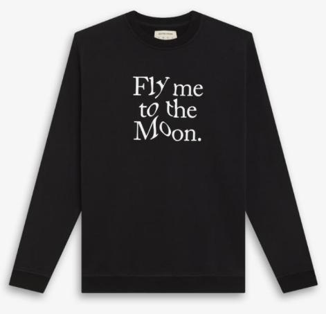 Blotter Atelier – Sweat Fly me to the Moon – Noir