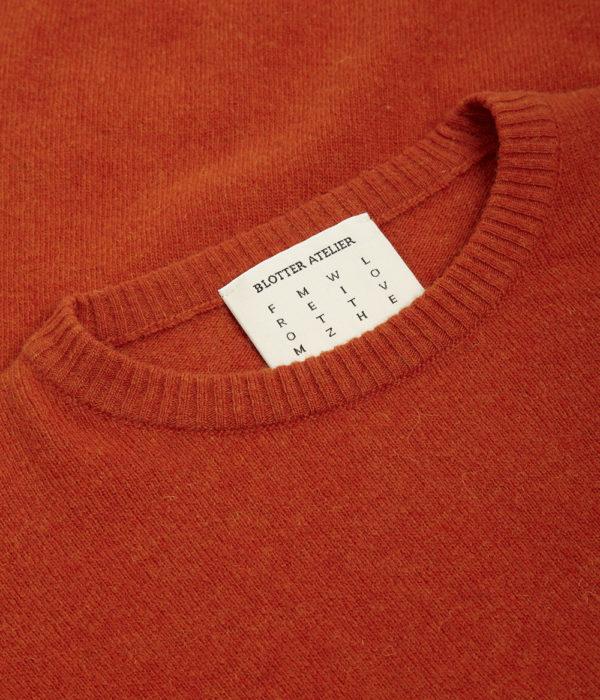 Blotter Atelier – Pull Quilliq – Orange