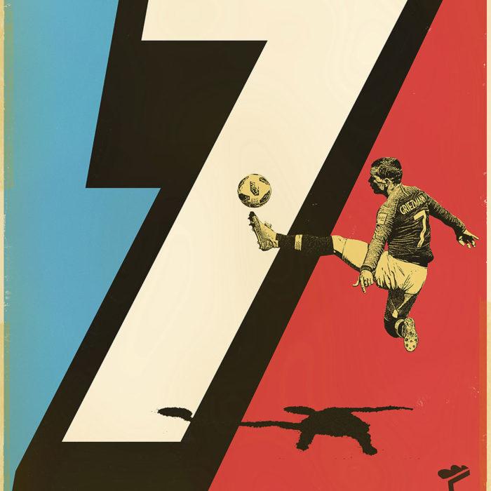 Affiche Griezmann – Sergeant Paper