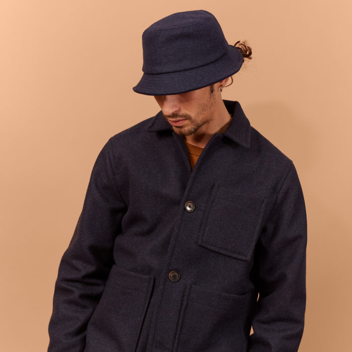 ARMY WOOL SUR-CHEMISE NAVY – OUTLAND