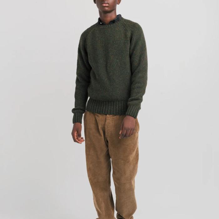 Pull en laine New Paris kaki – Edmmond Studios