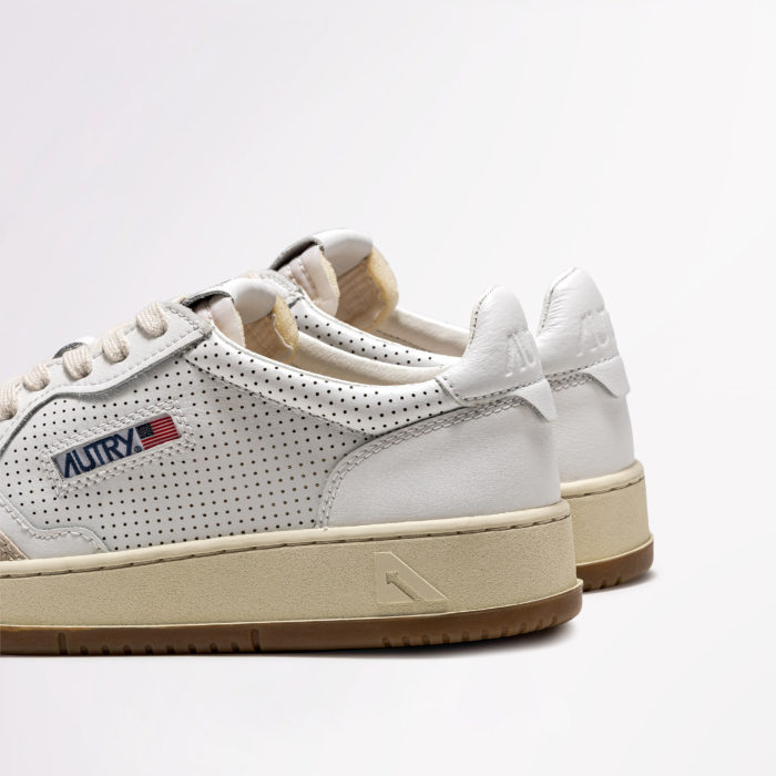 AUTRY LEATHER SUEDE WHT/WHT