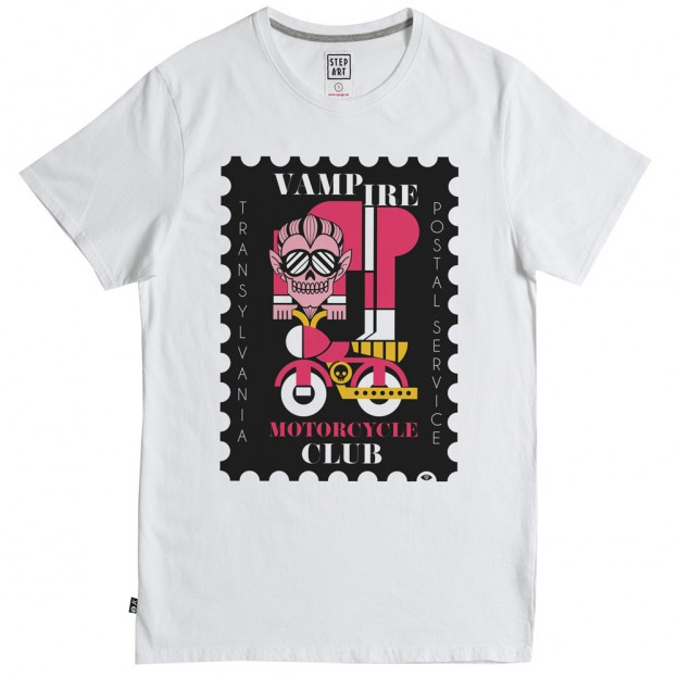 Stepart – T-Shirt Vampire Club – Blanc